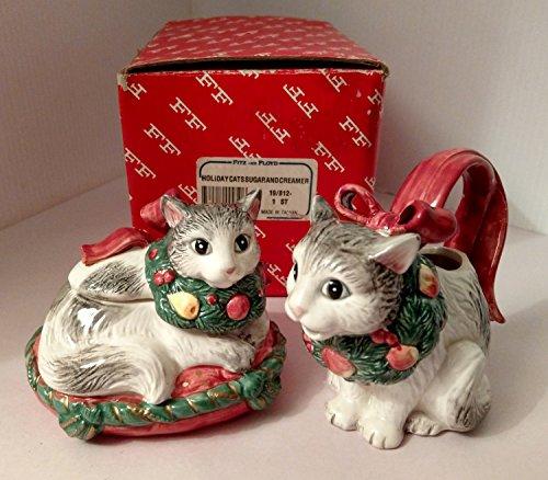 liday Cats Sugar And Creamer 1992 ()