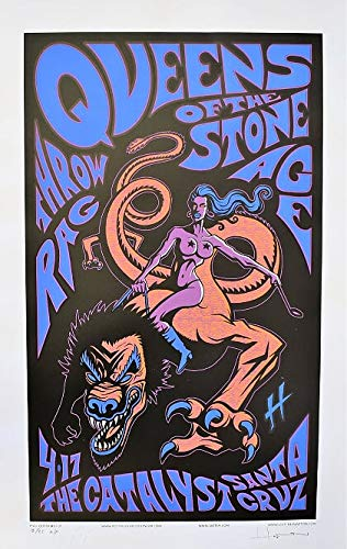 Queens Of The Stone Age Concert Poster Justin Hampton A/P Santa Cruz 2005