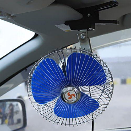 prettygood7 Ventilateur de Voiture oscillant pour Voiture 20 cm 12 V