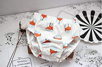 3Pack ITFABS Little Boy Underwear Brief Soft Cotton Panties Cute Wolf or Striped Training Pants
