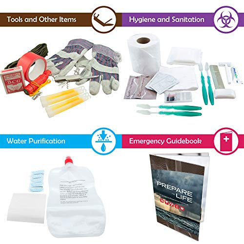 Bundle & Save | Emergency Zone 4 Person Family Prep 72 Hour Survival Kit + Deluxe Child Emergency Go Bag | Perfect Way to Prepare Your Family | Be Ready for Disasters like Hurricanes & Earthquakes by Emergency Zone (Image #3)