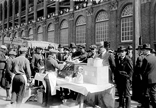 (Fans buying hot dogs at Ebbets Field, Brooklyn Dodgers, Baseball - Vintage Photograph (24x36 SIGNED Print Master Giclee Print w/Certificate of Authenticity - Wall Decor Travel Poster))