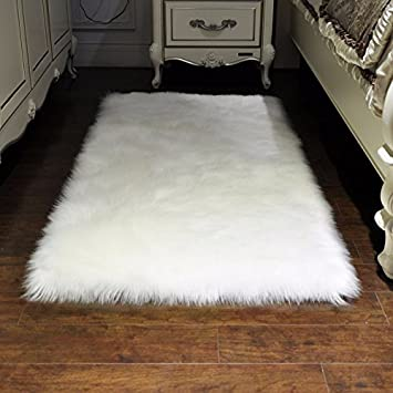 Weißen flauschigen Teppichen blending weichen Teppichboden ...