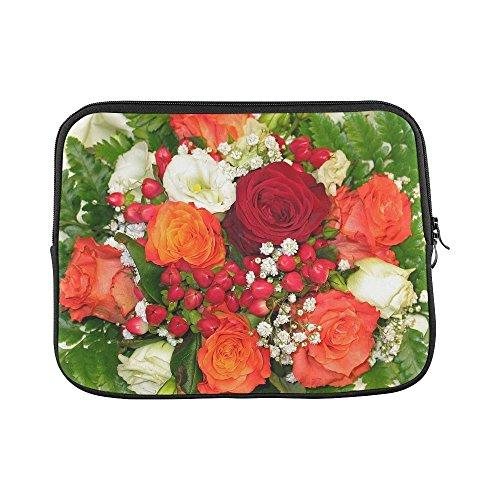 Purple Rose Florist (Design Custom Bouquet Of Flowers Florist Bouquet Of Roses Bouquet Sleeve Soft Laptop Case Bag Pouch Skin For Macbook Air 11