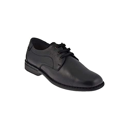 ac77ef1b2e BRAKING Scarpe Uomo Stringate Pelle Nera 6115-NERO: Amazon.it ...