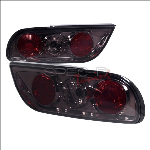 Spec-D Tuning LT-S1389G-TM Nissan S13 240Sx 2Dr Hatchback Smoke Tail Lights (Nissan 240sx Hatch)