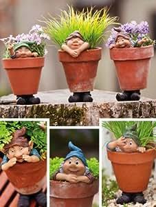 Ashley Gifts Garden Gnomes, soportes de maceta, macetero (no incluidas), Polystone, juego de 6