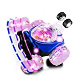 LESHP RC Rolling Stunt car,Invincible Tornado Twister Remote Control Truck,360 Degree Spinning and Flips with Color Flash & Music for Kids