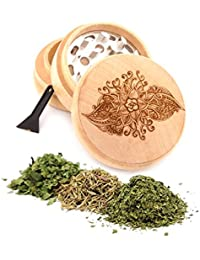 Want Om Engraved Premium Natural Wooden Grinder Item # PW91316-14 offer