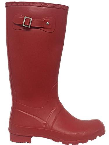 740b10fe61d8 Foster Footwear Ladies Original Tall Wellington Boots Buckle Waterproof  Snow Rain Festival Wellies Size 3-
