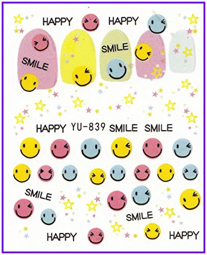 Stickers & Decals Beauty & Health Nail Sticker Kisses Leopard Skin Mermaid Cookies Funny Faces Water Transfers Stickers Nail Decals Stickers Yu828-839
