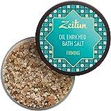 Zeitun Oil Enriched Bath Salts - Organic Himalayan Pink Salt - Dead Sea Salt With Olive & Almond and Grapefruit Oils - Skin Firming Bath Salts - Promotes Healthy & Smooth Skin 12 oz