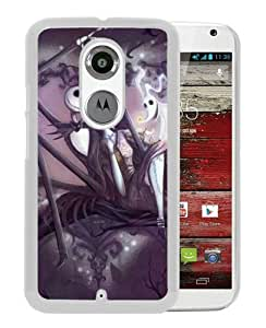 Hot Sale Motorola Moto X 2nd Generation Case ,The Nightmare Before Christmas Romantic Jack Sally White Motorola Moto X 2nd Generation Cover Case Unique Popular Designed Phone Case