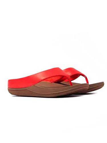 71bd7cd2a FitFlop Superlight Ringer Toe Post - Flame Leather (Red) Womens Sandals 5 UK