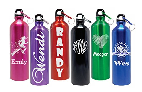 Personalized 25oz Stainless Steel Water Bottle Laser Engraved Customize On Line NOW! (Blue)