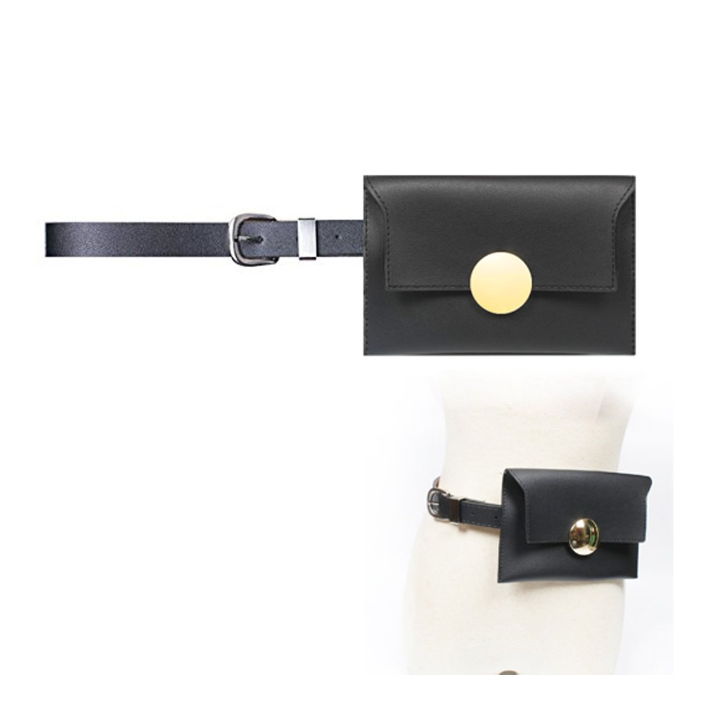Womens leather fanny pack,VITORIA'S GIFT removable Belt with MINI Purse Travel Cell Phone(not more than 5 inch) Bag