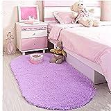 LOCHAS Ultra Soft Children Rugs Room Mat Modern Shaggy Area Rugs Home Decor 2.6 X 5.3, Purple
