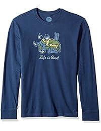 Men's Crusher Long Sleeve Apres Ski Dstblu T-Shirt,