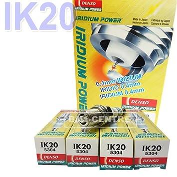 4 x denso ik20 5304 Cable de Actualización de rendimiento de iridio bujía tapones: Amazon.es: Coche y moto