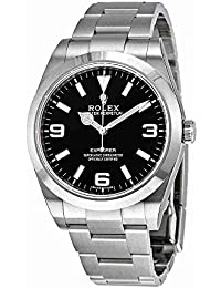 Explorer Black Dial Stainless Steel Rolex Oyster Automatic Mens Watch 214270BKASO