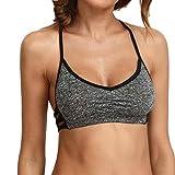 Bravetoshop Sexy Womens Ladies Gym Crop Top Comfort Yoga Bra Sports Vest Stretch (Gray, XL)