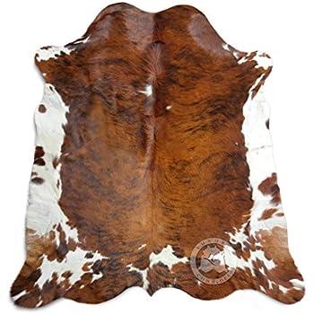 Brindle Tricolor Cowhide Rug XL Approx 6-6.5ft x 8-7.5ft 180cm x 240cm