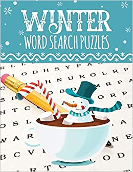 Amazon com: Winter Word Search Puzzles: Large Print Word