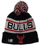Chicago Bulls Black Biggest Fan Cuffed Pom Knit Beanie Hat / Cap