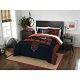 Chicago Bears Comforter Set Bedding Shams NFL 3 Piece Full-Queen Size 1 Comforter 2 Shams Football Linen Applique Bedroom Decor Imported