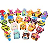 Play Vehicles, Friction Powered Pull Back Toys, Construction Crane Trucks, Trains, Aeroplanes, Racing Car, Scooter, Gift for Age 2, 3, 4, 5, 6 Year Olds Kids Toddler, Boy, Girls(Color N Pattern Vary)