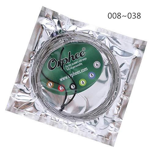 V2AMZ - 6Pcs Electric Guitar String 008-038 Extra Super Light Bright Tone Nickel Alloy String ()