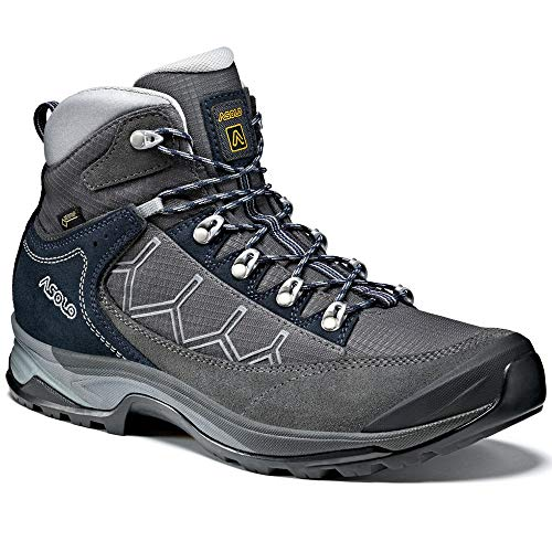 Asolo Men's Falcon GV Hiking Boots Graphite/Graphite/Blueberry - 8.5