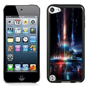 NEW Unique Custom Designed iPod Touch 5 Phone Case With Space Ship Interior Neon Lights_Black Phone Case
