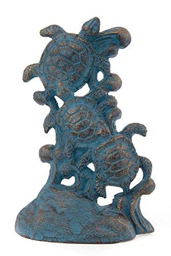 (Blue Cast Iron Sea Turtles Door Stopper Heavy Door Wedge Multiple)