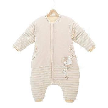CWLLWC Saco de Dormir para bebé,Dibujos Animados de algodón Pluma Fractura Pierna Saco bebé otoño Invierno Anti-Kick Tejido cálido Saco de Dormir 0-3 años: ...