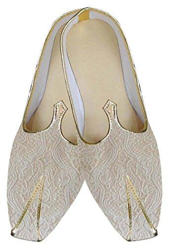 Cream Shoes Occasional Mj0141 Indian Wedding Inmonarch Mens WR8q04waxO