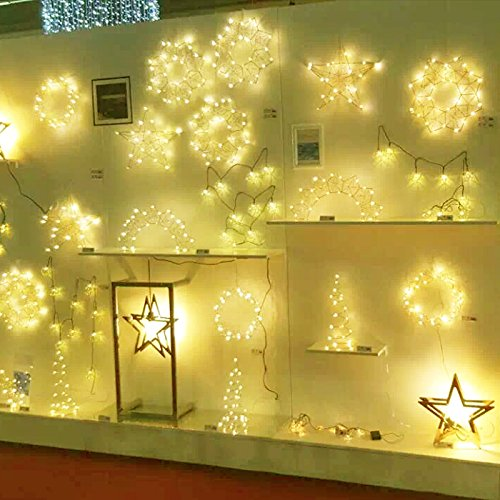 2 Pack, Waterproof Starry Fairy Copper String Lights USB Powered fwith SWITCH or Bedroom Indoor Outdoor Warm White Ambiance Lighting for Patio Wedding Decor 66 feet 200 LEDs Power Adapter Included by 12APM (Image #6)
