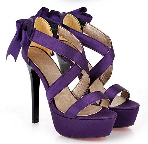 Talon Sandales ud Plateforme Sexy N Femme Haut Violet Aisun Aiguille FPEn7q7B