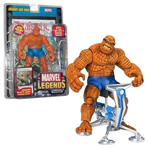 ToyBiz Year 2005 Marvel Legends Legendary Rider Series Super Poseable 6 Inch Tall Action Figure - 1st Appearance THING with 32 Points of Articulation Plus Bonus Exclusive Marvel Vs. System Trading Card, 32 Page Comic Book and Character Dedicated Vehicles