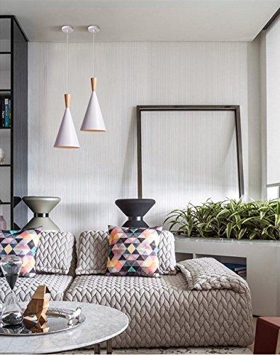BOKT 60W Single Head Ceiling Pendant Light fixtures Minimalist White Aluminum Hanging Chandelier Lighting for Kitchen Living Room Bedroom Home Decor (Style A) by BOKT (Image #2)