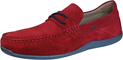 Médico freno Fácil de leer  Amazon.com | Geox Shoes U Xense Moc C Mens Suede Leather Moccasins-Red-6 |  Shoes