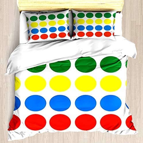 NTCBED Twister - Duvet Cover Set Soft Comforter Cover Pillowcase Bed Set Unique Printed Floral Pattern Design Duvet Covers Blanket Cover Queen/Full Size (Sheets Twister Bed)