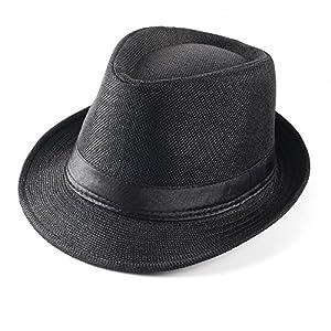 Beelittle 1920s Men Accessories Gangster Costume- Manhattan Hat, Y-Back Suspenders,Tie, Toy Fake Puff Cigar
