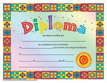 Diploma Spanish Certificate (Set of 30)