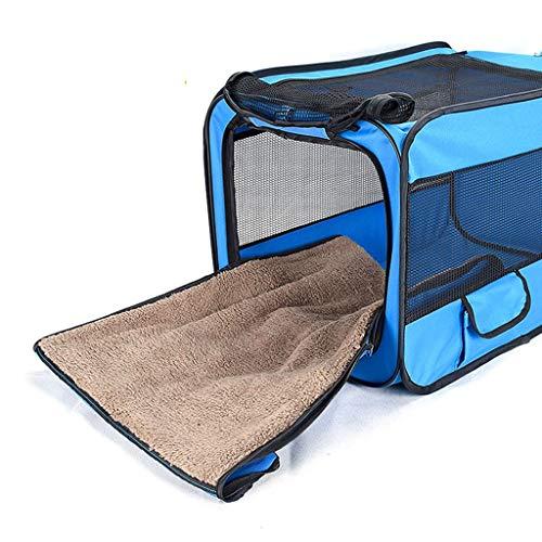 Houses & Habitats Outdoor Pet Tent Folding Cat Sunscreen Tent Car Pet Box Portable Pet Travel Tent Multi-function Indoor Pet Delivery Room Closed Breathable Kennel ( Color : Blue , Size : 487749cm )