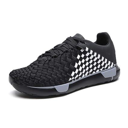 00b033de25bd9 Amazon.com : HRN Men's Sneakers mesh Round Head Thick-Soled Casual ...