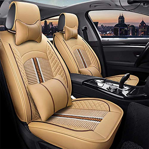 YXZN Leather Car Seat Cushion Fully Surrounded Four Season Seats Cover,Color4,Size: Sports & Outdoors