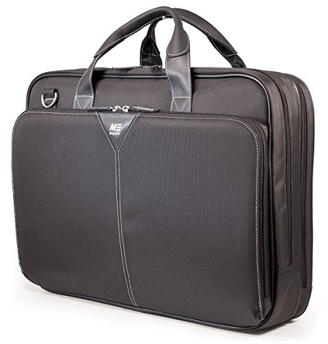 Mobile Edge Premium Nylon 17'' Laptop Briefcase, Computer Business Case in Black (Brief Leather 17' Laptop)