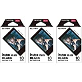 Fujifilm Instax Mini Instant Film BLACK FRAME 3-PACK BUNDLE SET , Film Black Frame ( 10 x 3 ) for Mini 90 8 70 7s 50s 25 300 Camera SP-1 Printer