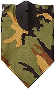 ZANheadgear Neodanna Woodland 100 Percentage Cotton Bandanna with Neoprene Face Mask (Camouflage)